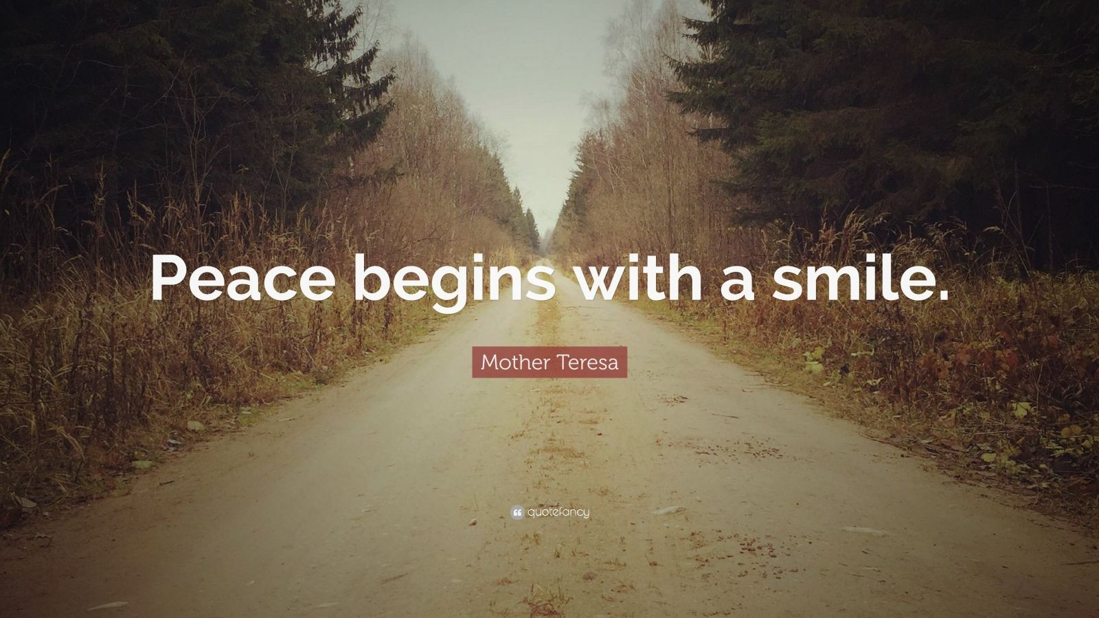 "Mother Teresa Peace Quote  Mother Teresa Quote ""Peace begins with a smile "" 25"