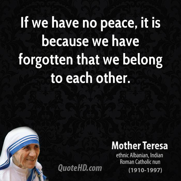 Mother Teresa Peace Quote  Mother Teresa Quotes About Peace QuotesGram