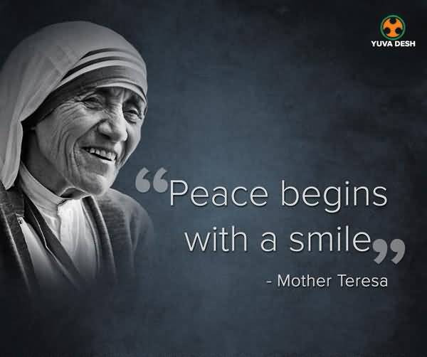 Mother Teresa Peace Quote  100 Most Popular Quotes Slogans & Sayings By Famous