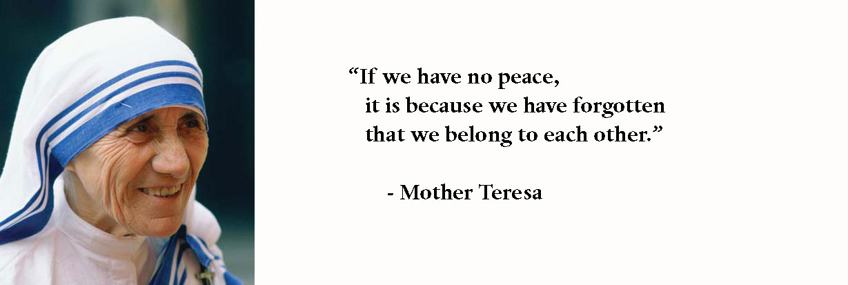 Mother Teresa Peace Quote  Quotes by Mother Teresa — Write Spirit