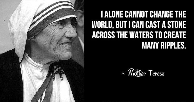 Mother Teresa Peace Quote  International Women who inspire me every day
