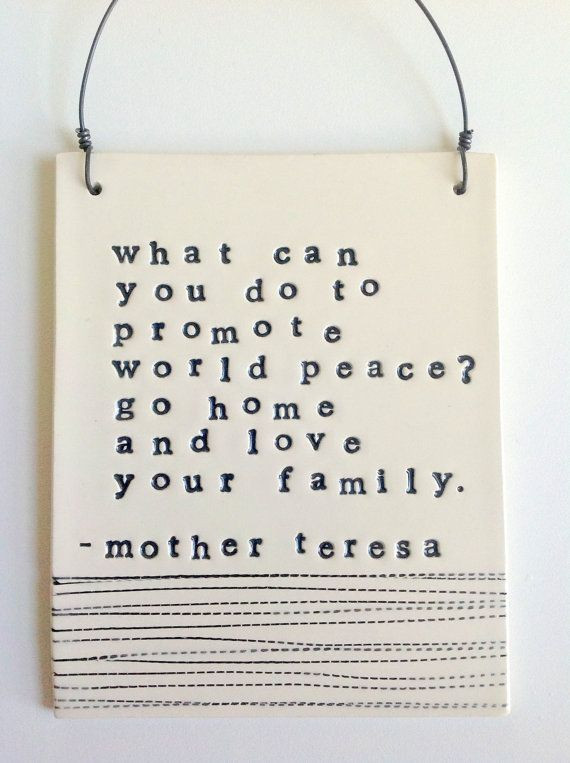 Mother Teresa Peace Quote  Peace Mother Teresa Quotes QuotesGram