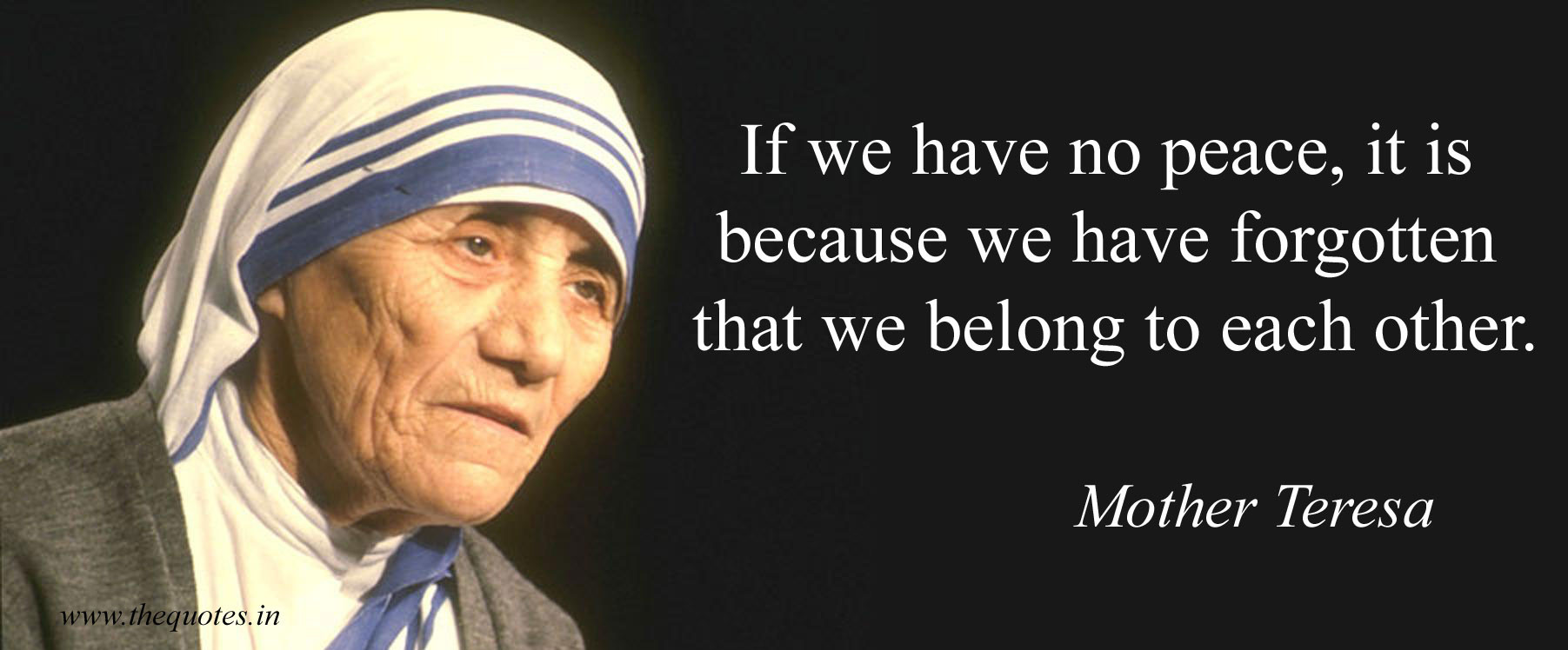 Mother Teresa Peace Quote  mother teresa pecae