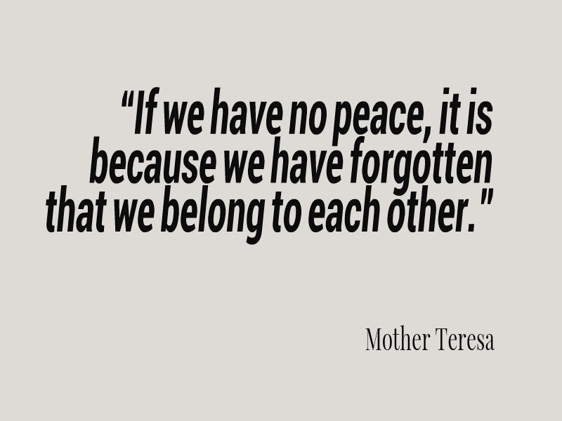 Mother Teresa Peace Quote  Mother Teresa Quote About Peace Awesome Quotes About Life