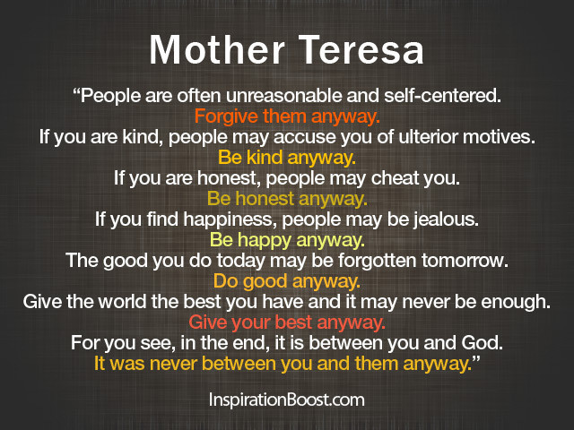 Mother Teresa Quote Be Kind Anyways  301 Moved Permanently