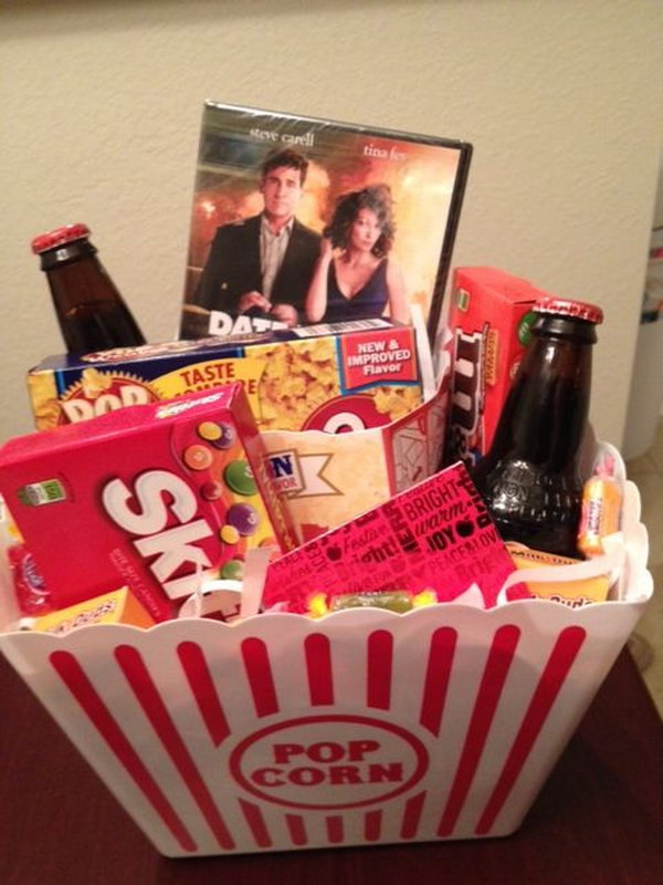 Movie Gift Basket Ideas  25 DIY Gifts for Him With Lots of Tutorials 2017