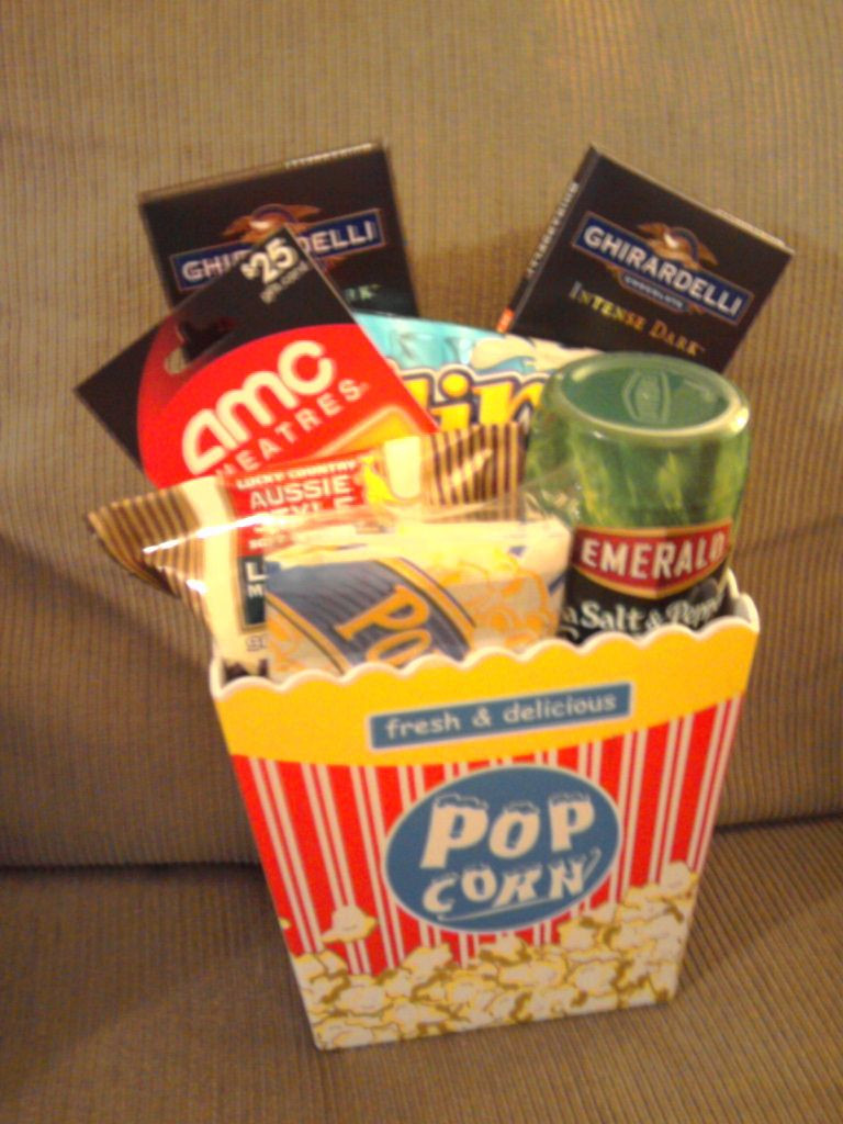 Movie Gift Basket Ideas  A night at the movies t basket