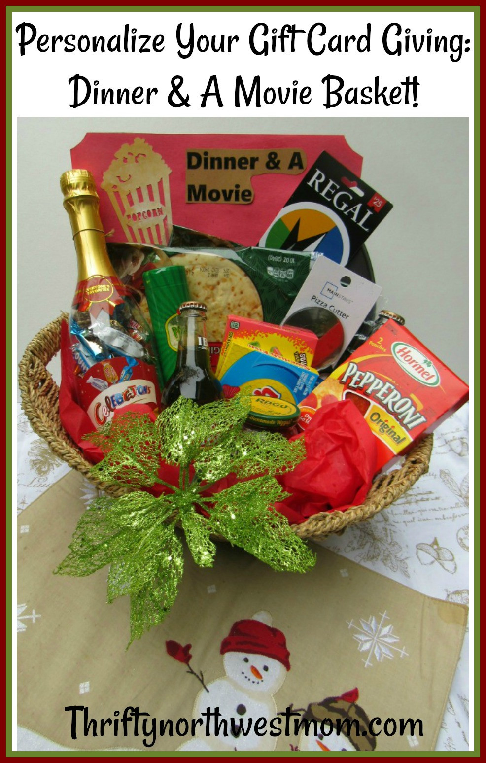 Movie Gift Basket Ideas  Dinner & A Movie Gift Basket Idea How to Personalize