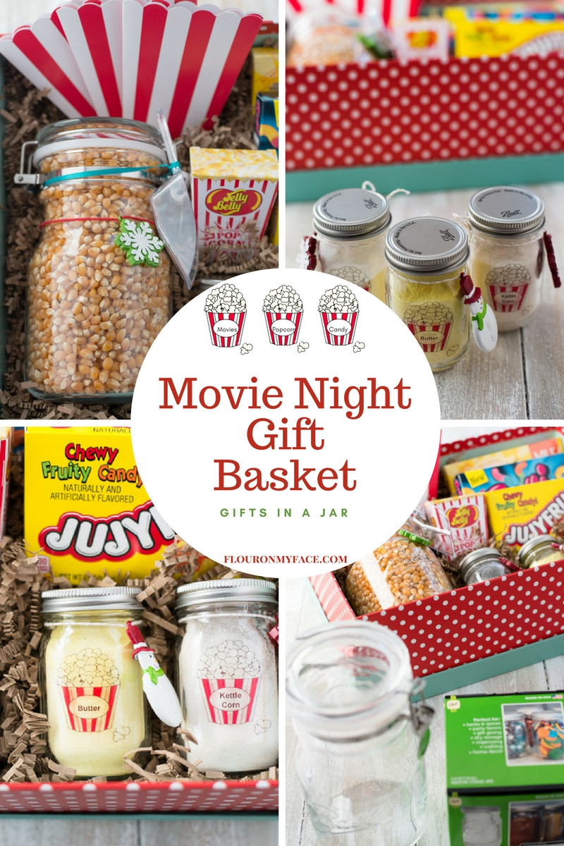 Movie Gift Basket Ideas  Movie Night Gift Basket Gifts In a Jar Flour My Face