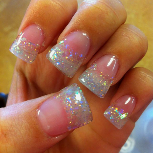 Natural Glitter Nails  111 best images about Glitter acrylic nail tips on