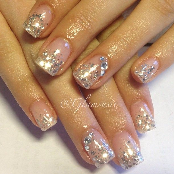 Natural Glitter Nails  184 best images about natural nails on Pinterest