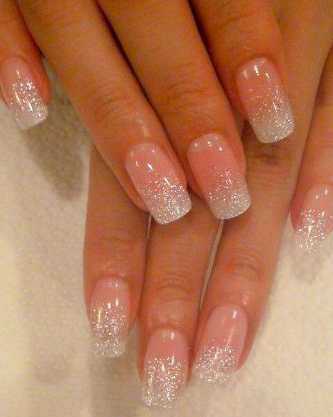 Natural Glitter Nails  Natural Nails With Glitter With images