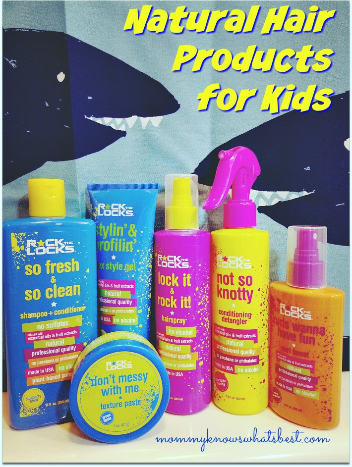 Natural Hair Products For Kids  Rock the Locks Review Natural Hair Products for Kids that