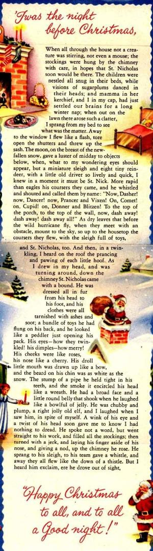 Night Before Christmas Quotes  Clement C Moore Twas The Night Before Christmas by