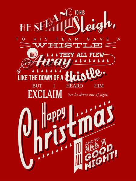 Night Before Christmas Quotes  Awesome Twas the Night Before Christmas Art Print