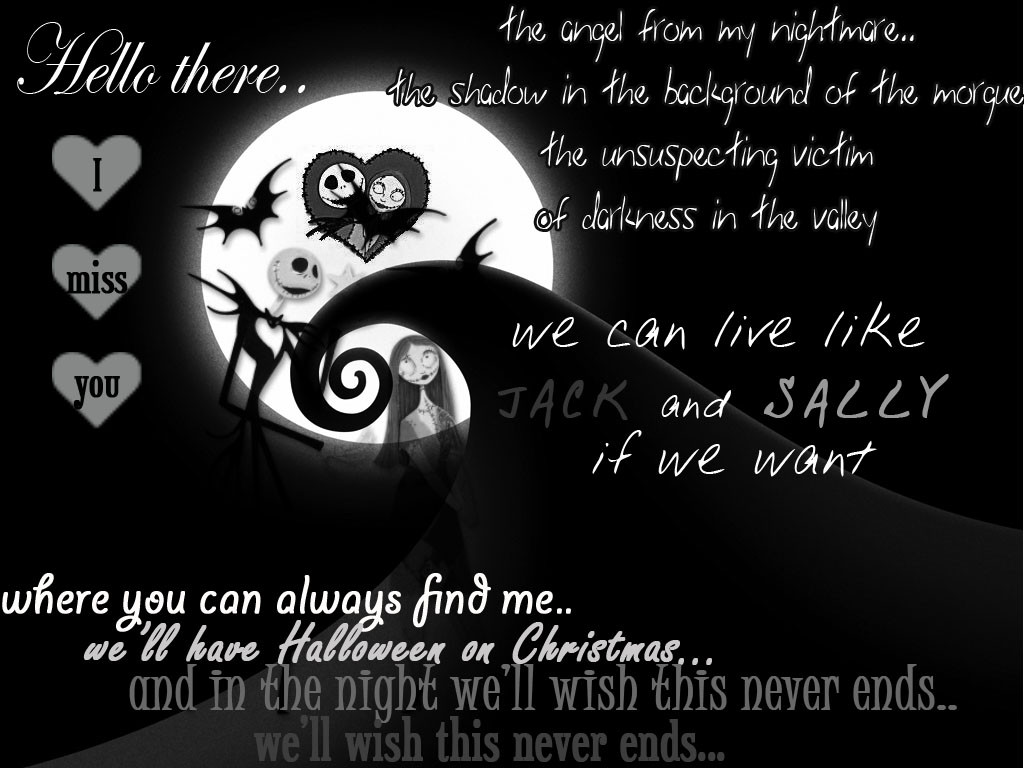 Night Before Christmas Quotes  Jack And Sally Nightmare Before Christmas Quotes QuotesGram