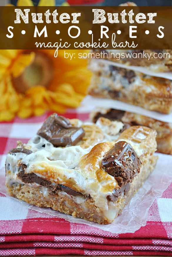 Nutter Butter Dessert  Nutter Butter S mores Magic Cookie Bars Something Swanky