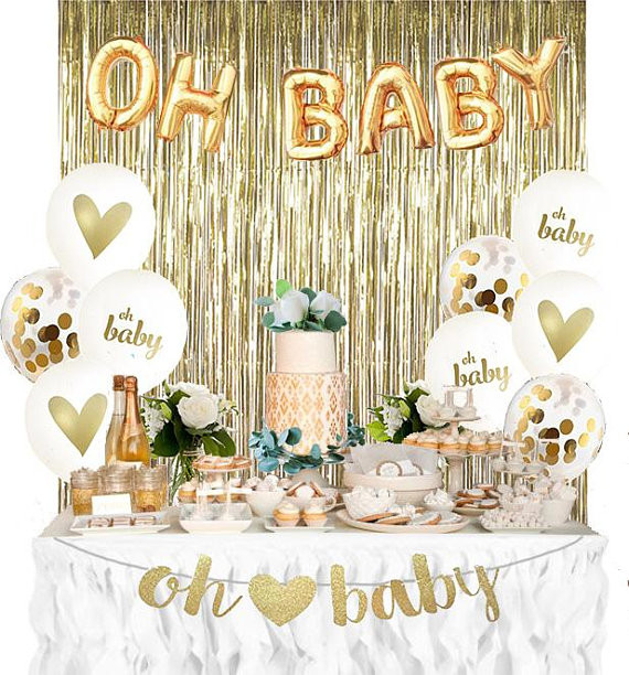 Oh Baby Party Supplies  Baby Shower Decorations For Gender Reveal Oh Baby Party