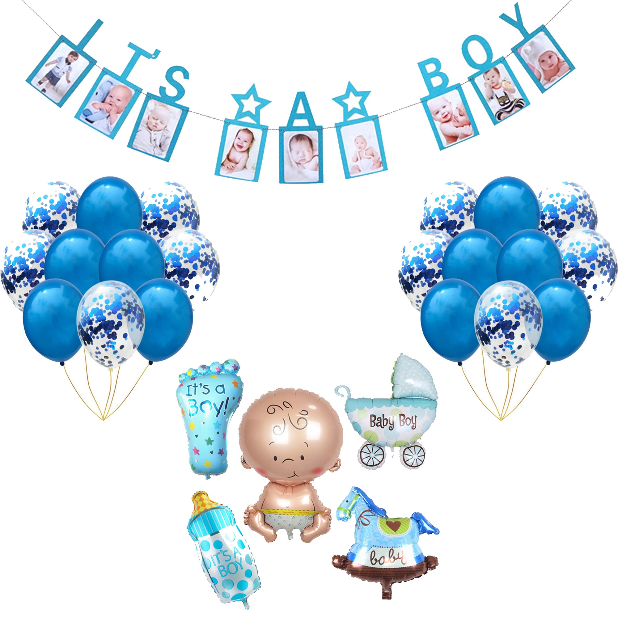 Oh Baby Party Supplies  Gender Reveal Its A Boy Girl Baby Shower Boy Party