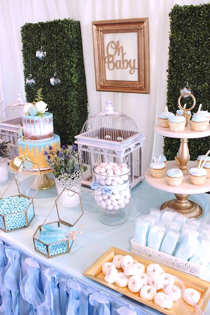 """Oh Baby Party Supplies  Kara s Party Ideas Darling """"Oh Baby"""" Boy Baby Shower"""