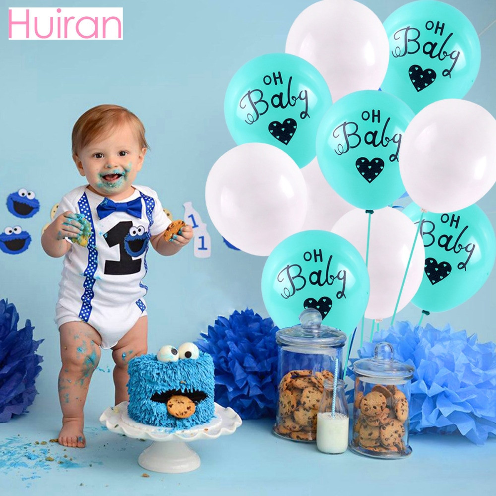 Oh Baby Party Supplies  HUIRAN Confetti Balloons OH Baby Shower Decorations Boy
