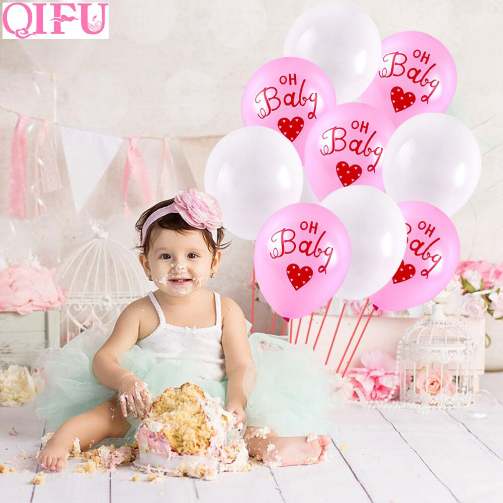 Oh Baby Party Supplies  QIFU Baby Shower Favors Oh Baby Happy Birthday Balloons