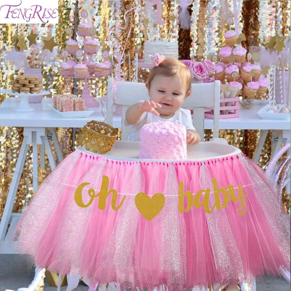 Oh Baby Party Supplies  FENGRISE 10 Pcs DIY Baby Girl Boy Banner Oh Baby Birthday