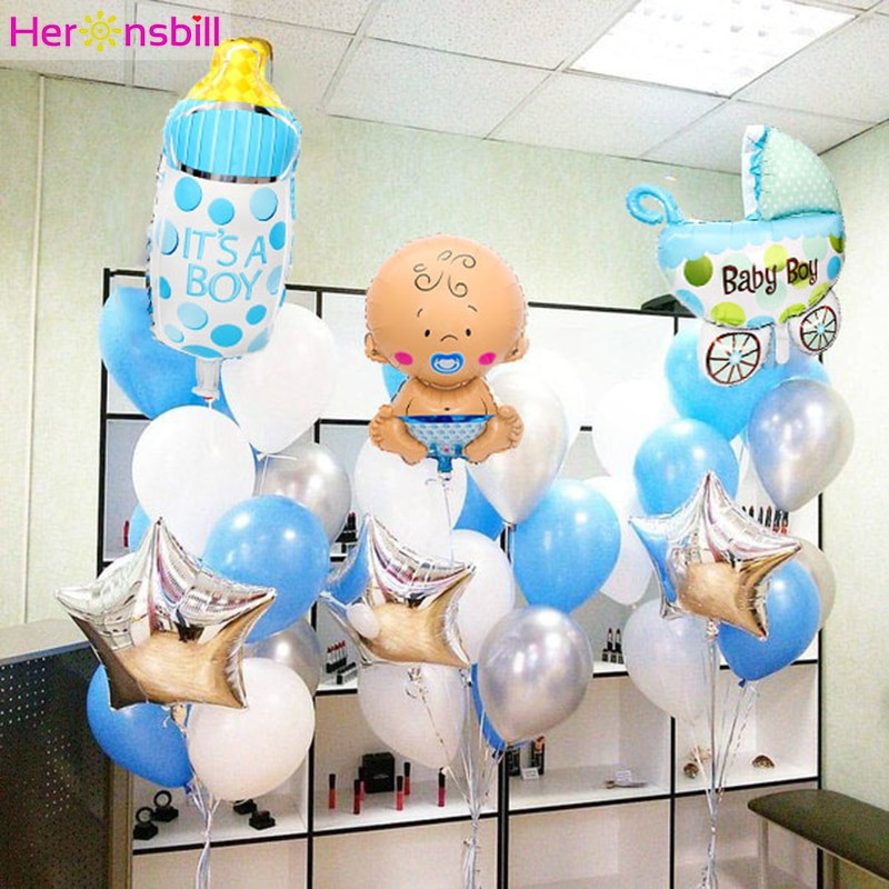 Oh Baby Party Supplies  Heronsbill 16inch Baby Shower Foil Balloons Its a Boy Oh