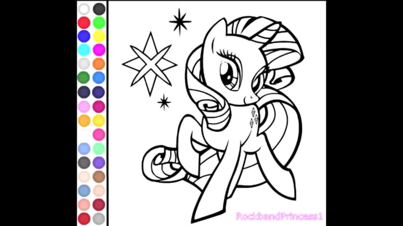 Online Coloring Games For Kids  My Little Pony Coloring Games line For Kids Free