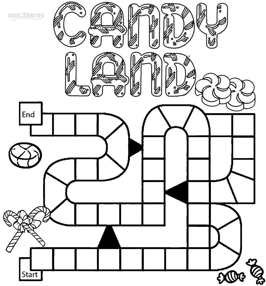 Online Coloring Games For Kids  Printable Candyland Coloring Pages For Kids