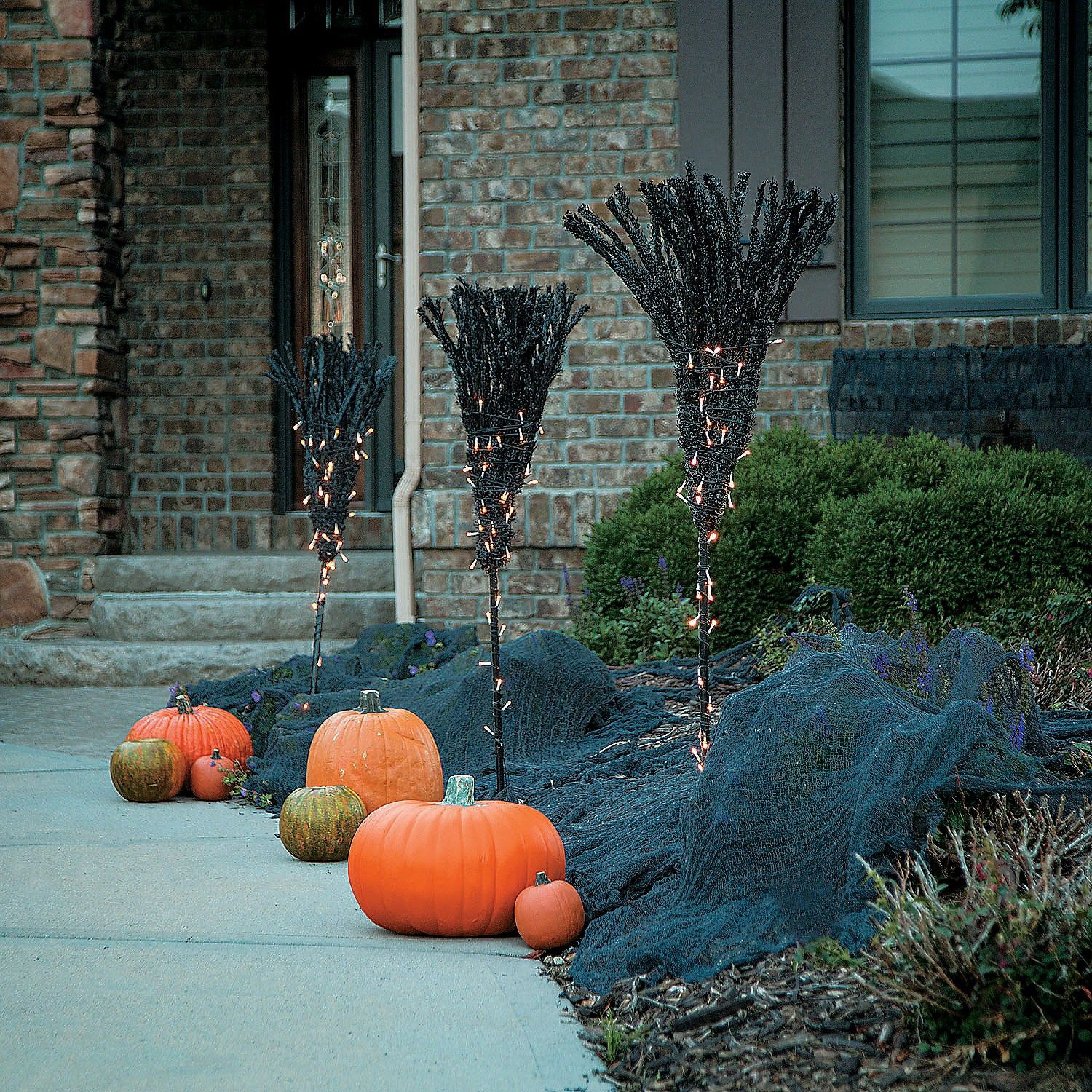 Outdoor Halloween Decorations On Sale  Broomstick Path Light Markers OrientalTrading