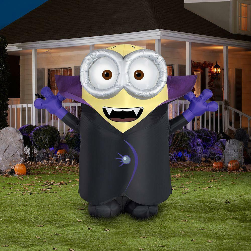 Outdoor Halloween Decorations On Sale  Gemmy 8 5 Minions Despicable Me Carl Gone Batty Halloween