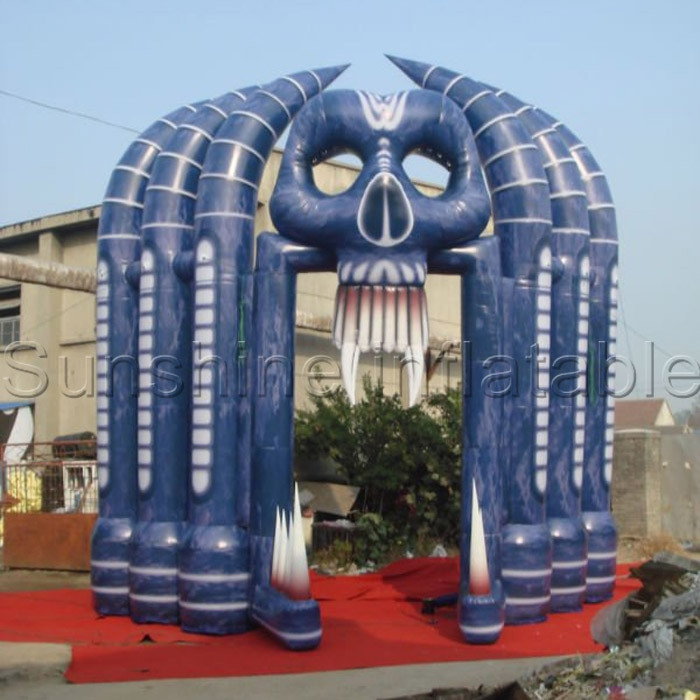 Outdoor Halloween Decorations On Sale  Free shipping halloween clearance hot sale 5mW 6mH skull