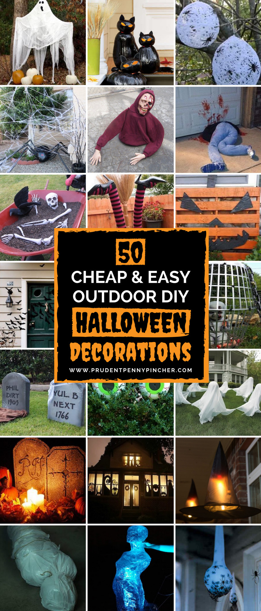 Outdoor Halloween Decorations On Sale  50 Cheap and Easy Outdoor Halloween Decor DIY Ideas