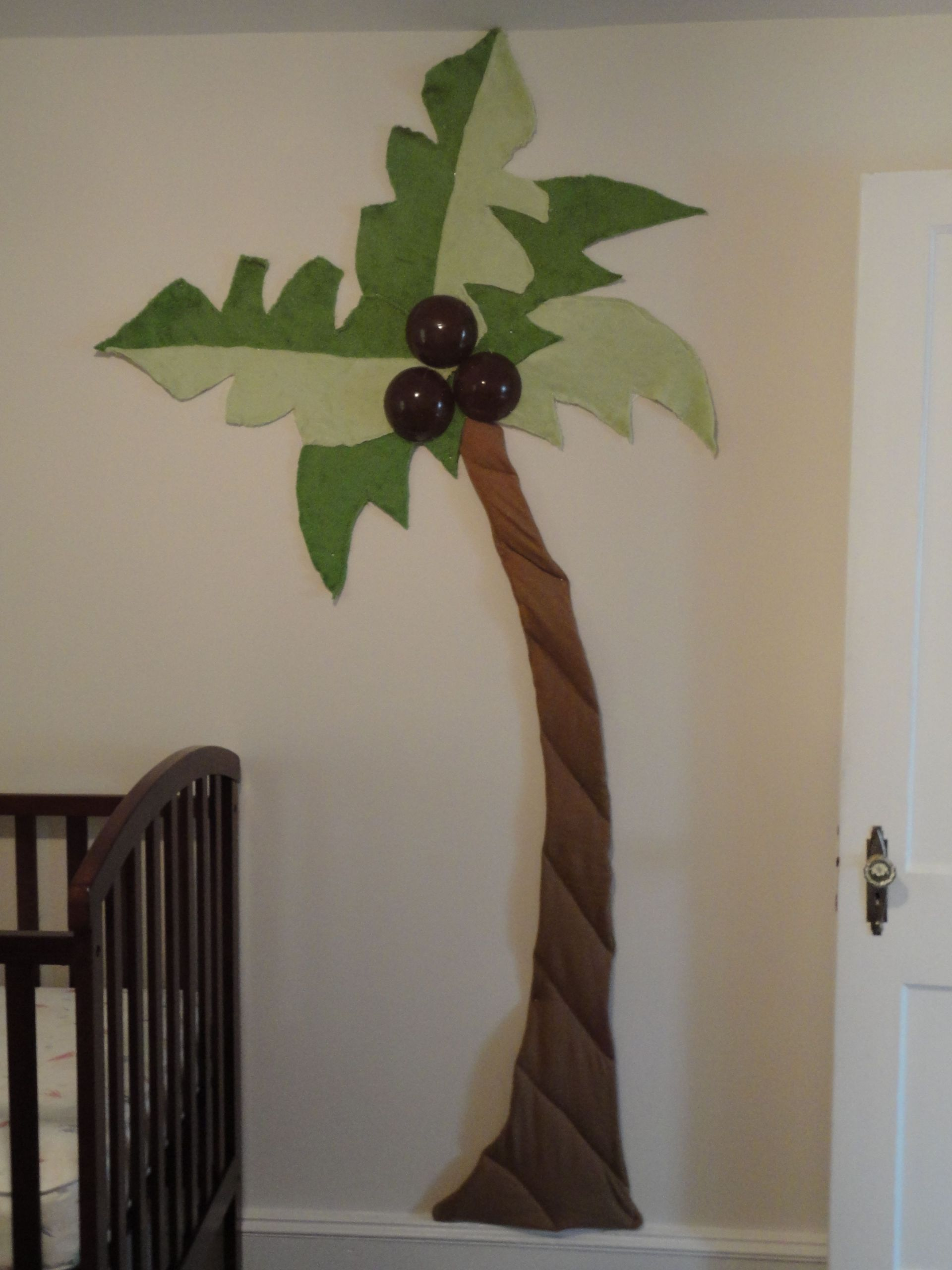 Palm Tree Decorations DIY  Homemade palm tree for his room
