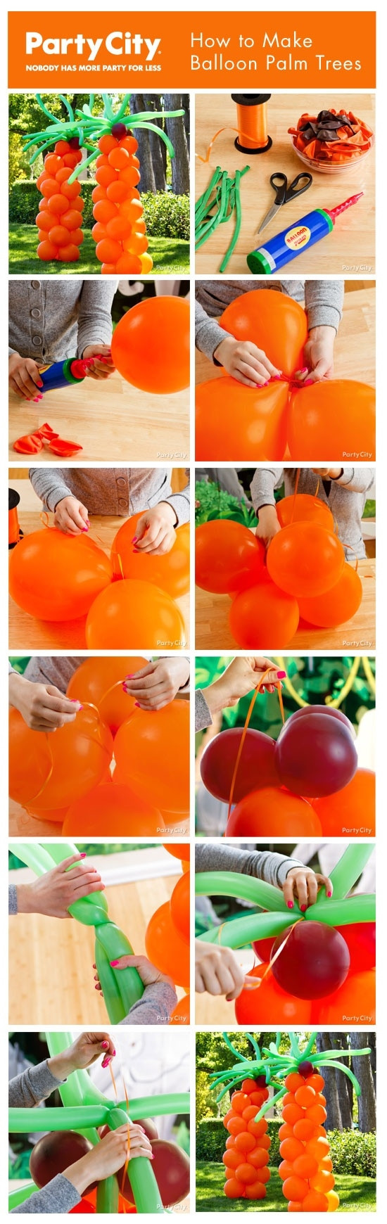 Palm Tree Decorations DIY  DIY Balloon Palm Trees s and for