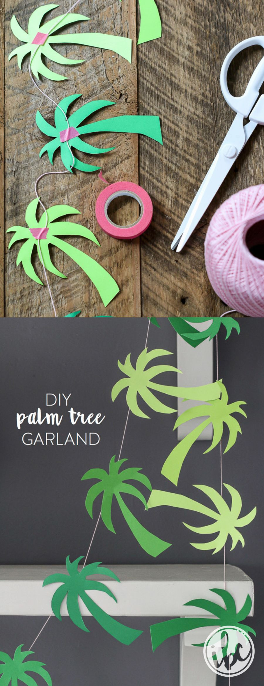 Palm Tree Decorations DIY  Palm Tree Garland party printable tropical party