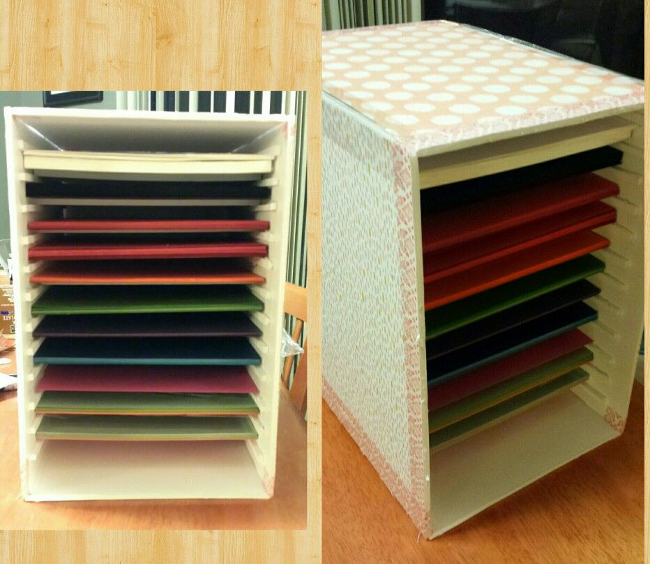 Paper Organizer DIY  Paper storage DIY made with foam board from craft store a