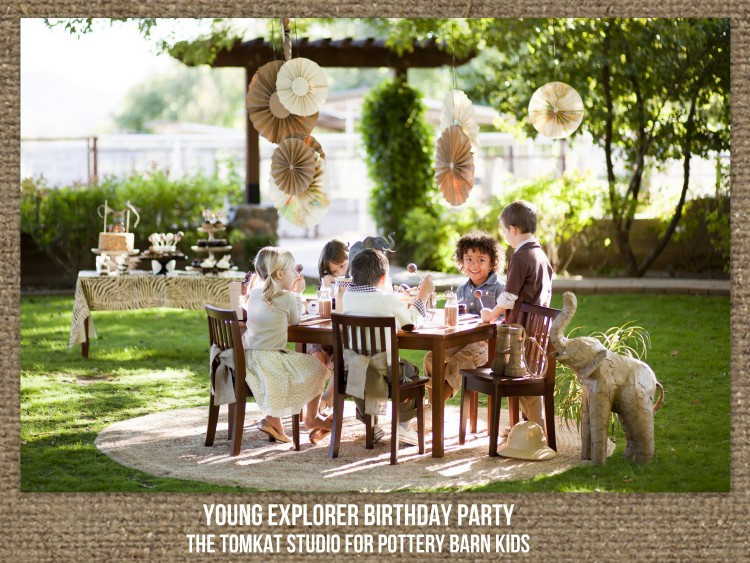 Party Barn Kids  Young Explorer Birthday Party for Pottery Barn Kids