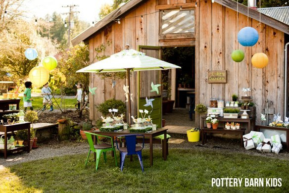 Party Barn Kids  Gardening Party for Pottery Barn Kids