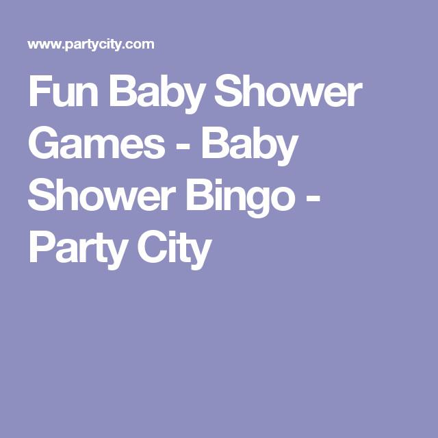 Party City Baby Shower Games  Fun Baby Shower Games Baby Shower Bingo Party City