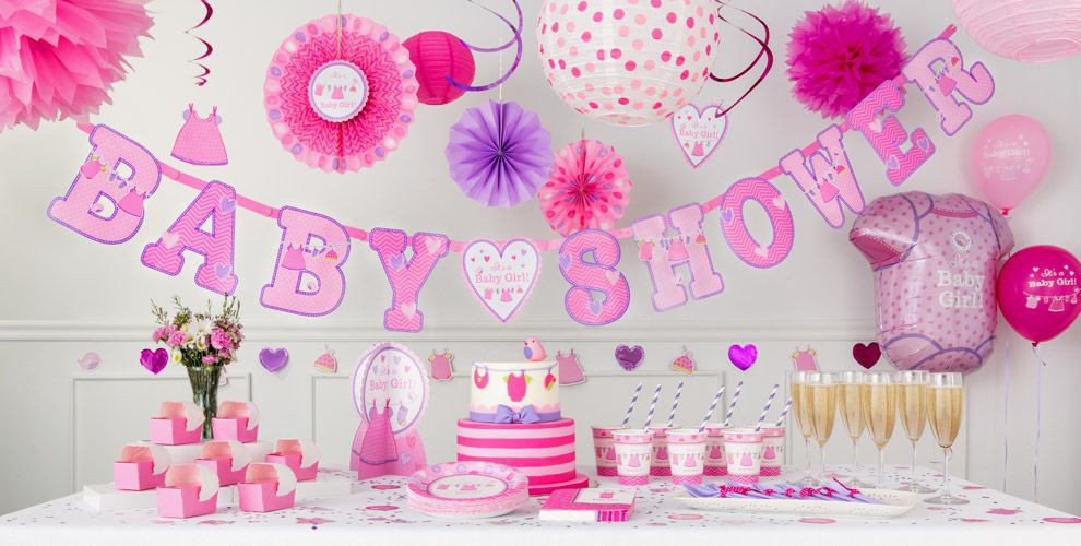 Party City Baby Shower Themes For A Girl  It s a Girl Baby Shower Decorations