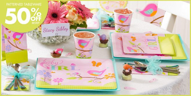 Party City Baby Shower Themes For A Girl  Tweet Baby Girl Baby Shower Party Supplies Party City