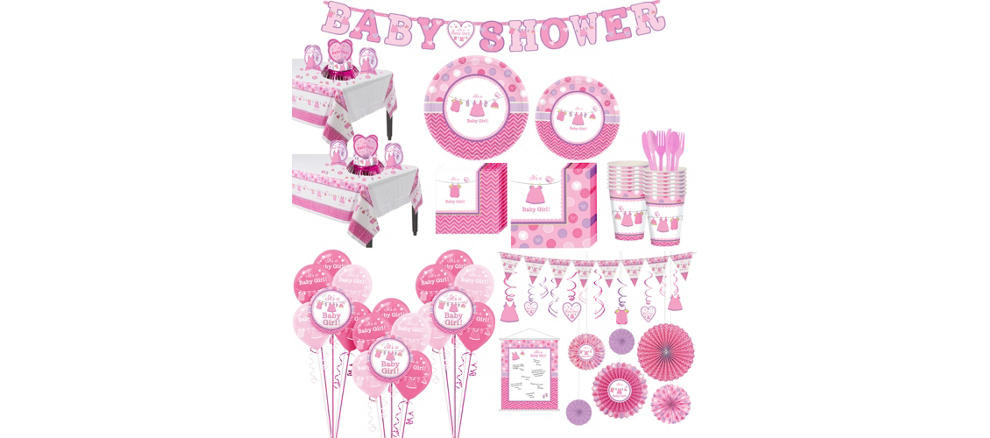 Party City Baby Shower Themes For A Girl  It s a Girl Baby Shower Party Supplies Party City