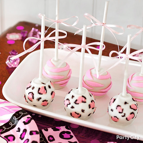 Party City Baby Shower Themes For A Girl  Girl Baby Shower Jungle Theme Cake Pops Idea Party City