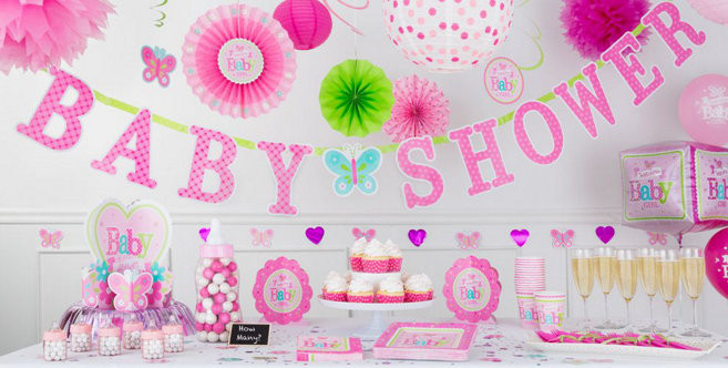 Party City Baby Shower Themes For A Girl  Wel e Baby Girl Baby Shower Decorations Party City