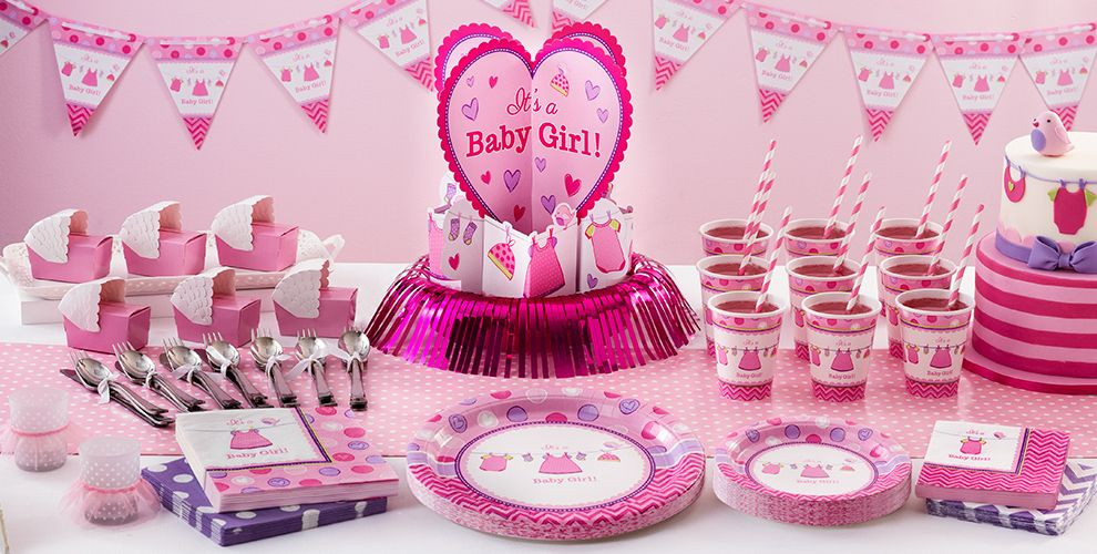 Party City Girl Baby Shower  It s a Girl Baby Shower Party Supplies