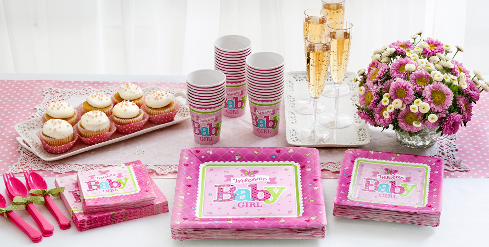 Party City Girl Baby Shower  Wel e Baby Girl Baby Shower Party Supplies