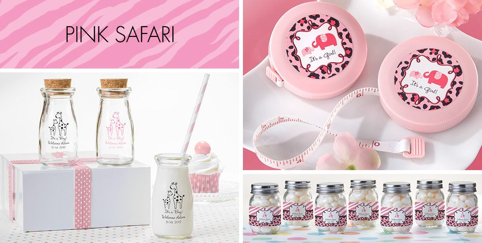 Party City Girl Baby Shower  Pink Safari Baby Shower Party Supplies