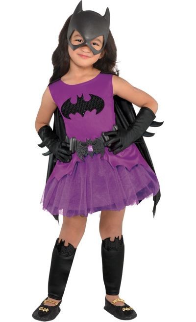 Party City Halloween Costumes Baby  Toddler Girls Purple Batgirl Costume Batman